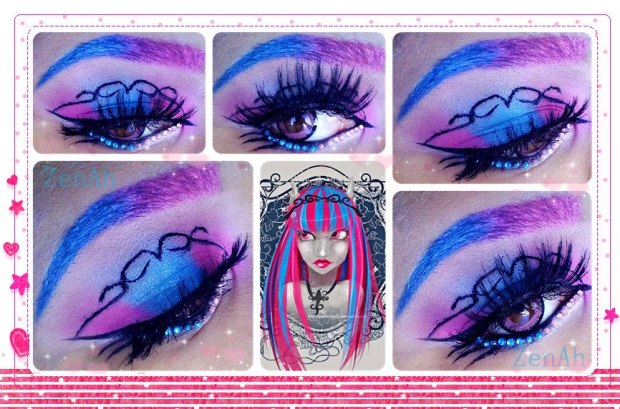 ZenAh's gorgeous Rochelle Goyle entry! I adore those details and the blend from pink to blue.